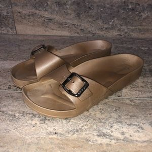 Birkenstocks Madrid Solid rose gold Foam Sandals